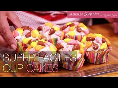 Como decorar súper fácil cupcakes para tu mesa de Halloween. DIY Alejandra Coghlan