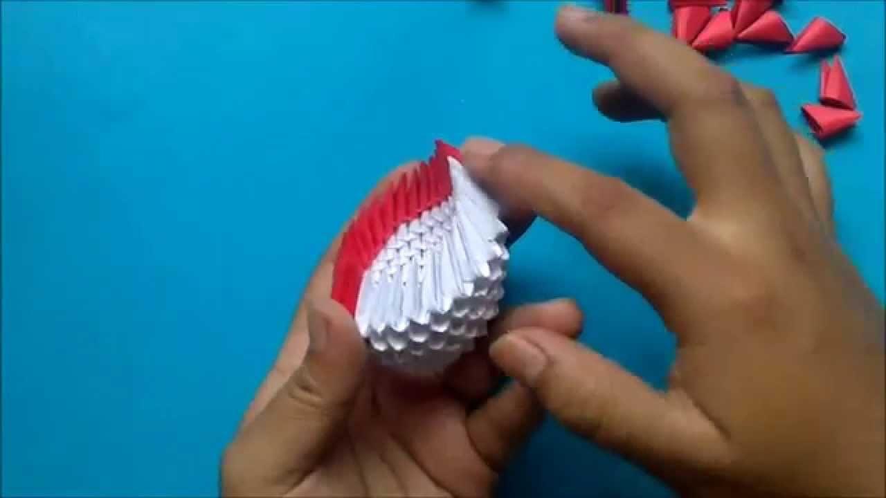 Origami 3D Flor alcatraz
