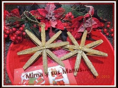 ADORNO NAVIDEÑO RECICLANDO.  .Christmas ornament recycling