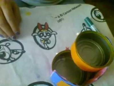 Como aser un cajonsito con latas de atun manualidades resicladas