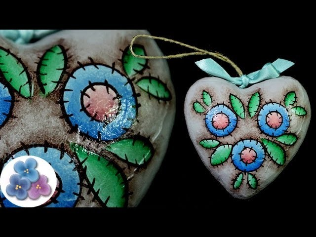 Como Craquelar un Corazón *Christmas Ornament* DIY Craquelador Pintura Craquelada Pintura Facil