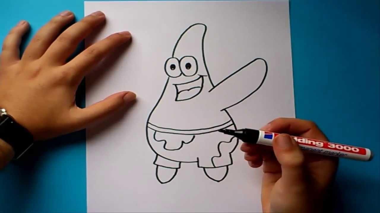 Como dibujar a Patricio paso a paso - Bob esponja | How to draw Patricio - Sponge bob