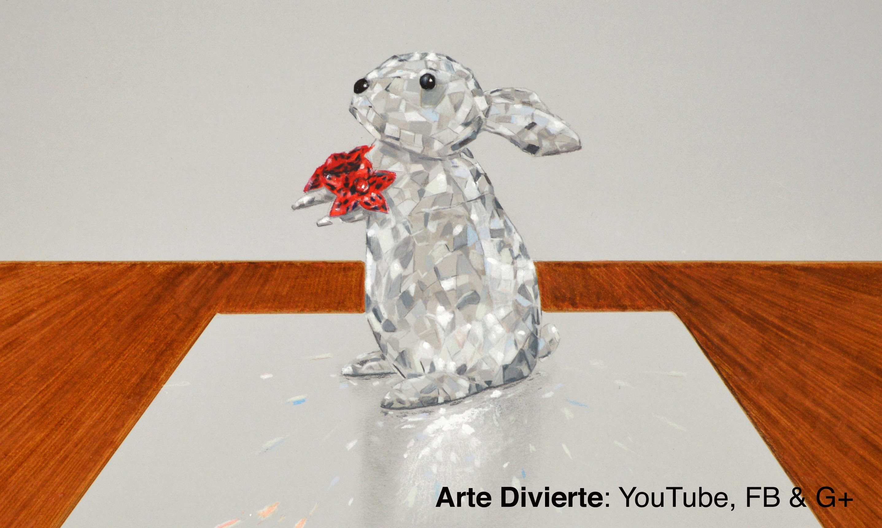 Cómo dibujar un conejo de Crystal Swarovski - Con efecto 3D