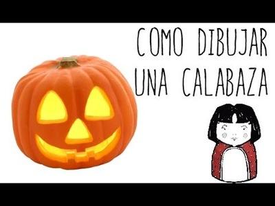 Como dibujar una Calabaza - dibujos de halloween para niños