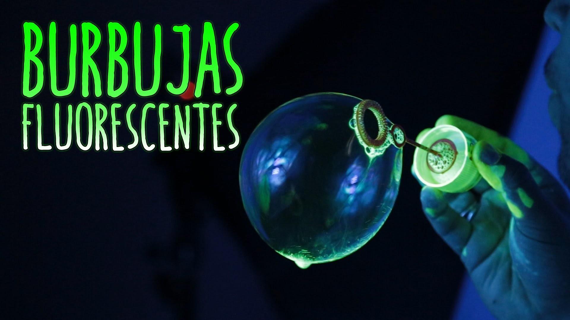 Cómo hacer burbujas fluorescentes (Experimentos Caseros para niños)