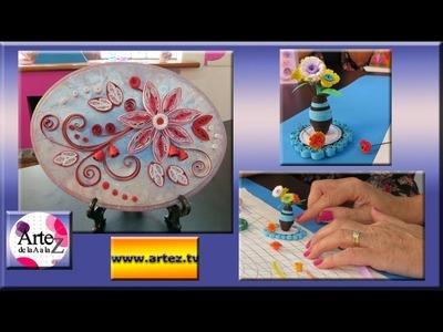 Cómo hacer flores con papel de filigrana