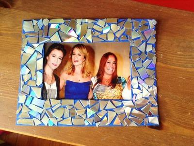 Como Hacer Marcos para fotos Con CD reciclado