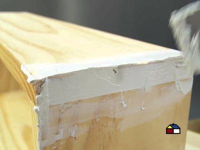 ¿Cómo hacer repisas flotantes con molduras