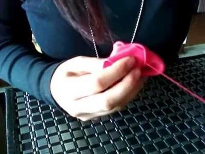 Como hacer rosas en foamy