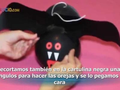 Cómo hacer un murciélago. Manualidades para Halloween