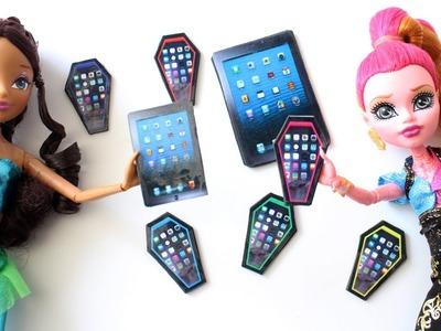 Cómo hacer un tablet  o tableta para tus muñecas - Manualidades para muñecas