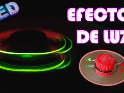 Como Hacer un Trompo Luminoso Casero (Efectos de luz )