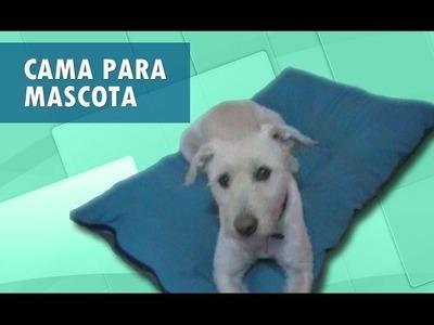 Como hacer una cama para mascota fácil y rápido materiales reciclados.