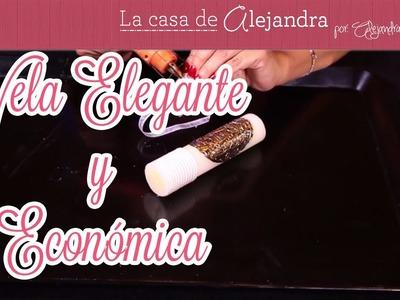 Como Hacer una Vela Súper Elegante y que sea Económica DIY Alejandra Coghlan