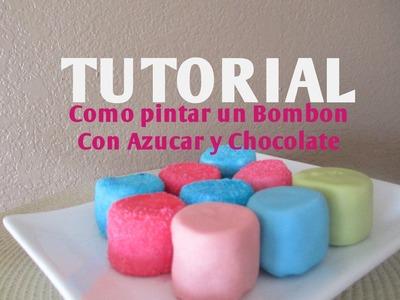 Cómo pintar azúcar de colores para decorar una paleta de bombón - Madelin's Cakes