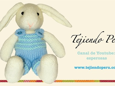 Conejos tejidos en dos agujas o palillos (Parte 2: cuerpo)