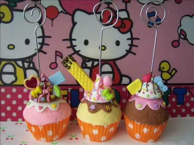 Cupcake porta notas (porcelana fría)