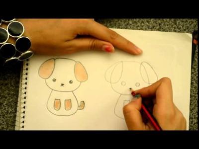 Dibuja un perrito kawaii Dibujin Dibujado Aprende a dibujar