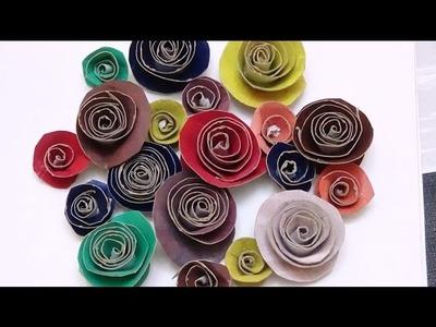 DIY Rosas con Rollos de papel Higienico