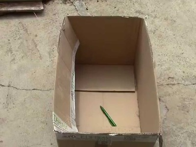 DOBLADOR DE ROPA, CASERO ( reciclando cartón ) BENDER CLOTHING, HOME (recycling cardboard)