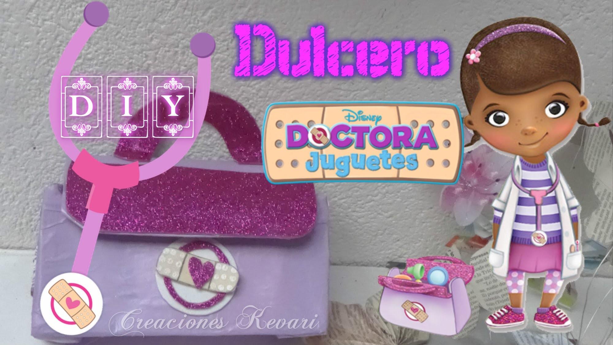 Dulcero Maletín  Doctora Juguetes DIY  cajas de leche (Material Reciclado).Doc McStuffins candy bag