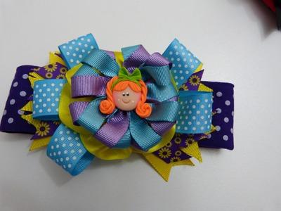 Flores, moños o lazos  en cintas para el cabello paso a paso  no. 319 Manualidadeslahormiga