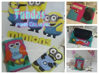 Funda para Movil de Celular de Minions y Buho DIY Material Reciclado. Cell Phone Cases