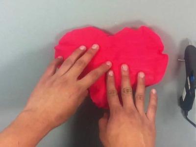 Hacer un colgante en forma de corazón - Decoración San Valentín