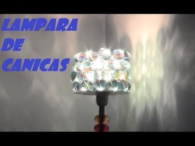 LAMPARA O PORTAVELAS DE CANICAS