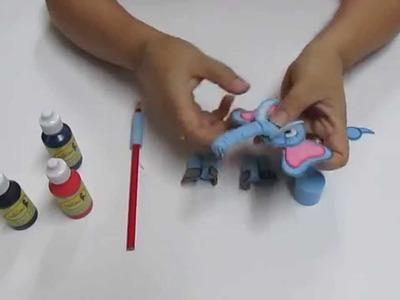 Lapiz Filigrana Elefantito en Foami, Goma Eva, Microporoso