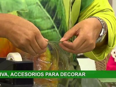 Lorena y Nicolasa: sepa cómo hacer bonitos adornos con botellas de plástico