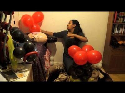 Mickey mouse en globos