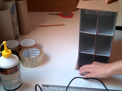 Organizador para escritorio hecho de cartón y tetra briks (1ª parte).