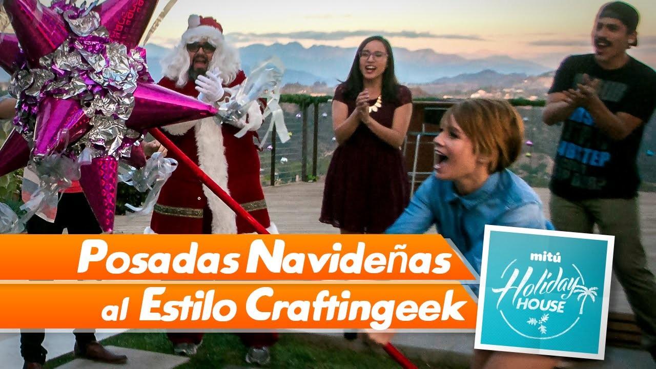 Posadas Navideñas y Punchbox de regalos (DYI) - Craftingeek (Mitú Holiday House)