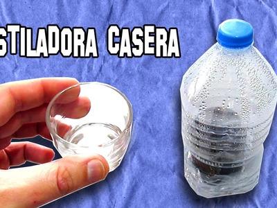 Supervivencia   Destiladora Casera con una Botella