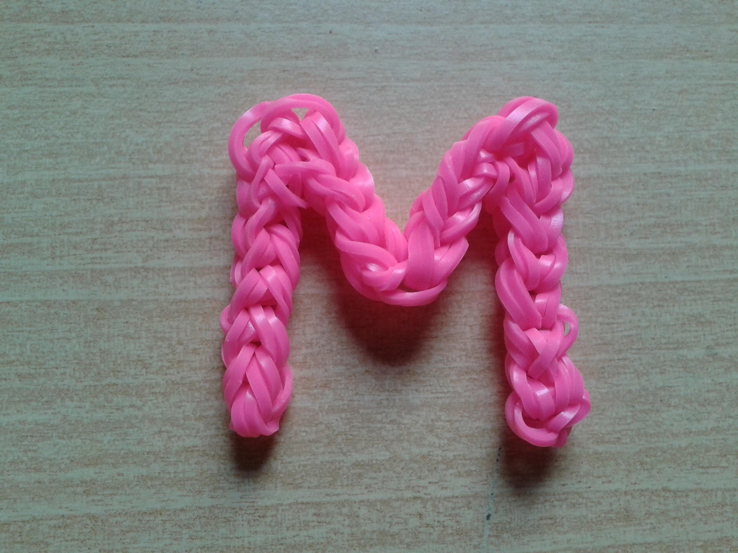 ♥ Tutorial: letras M y W hechas con gomitas (sin telar) ♥