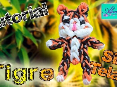 ♥ Tutorial: Tigre de gomitas (sin telar) ♥
