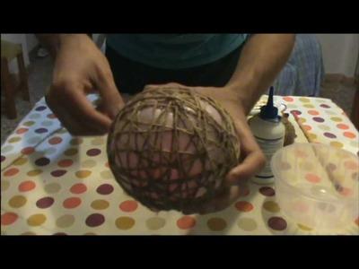 Bolas (esferas) de Navidad hechas de Cuerda. .Ibe