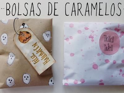 Cómo hacer bolsas de dulces (Manualidades fáciles para Halloween)
