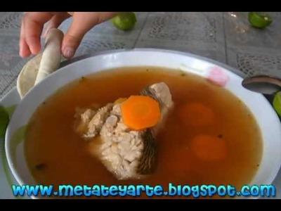 Como hacer caldo de pescado pargo fish stock