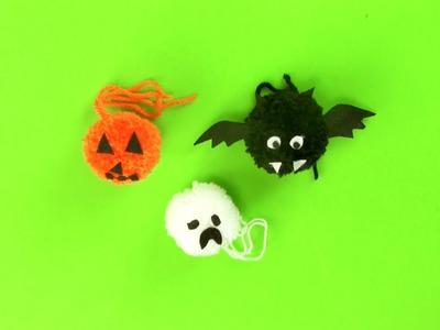 Cómo hacer un murciélago de Halloween con un pompón
