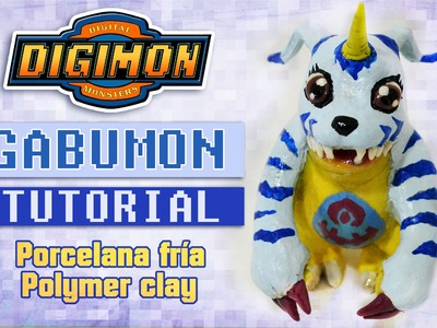 [Cristhian Crafts collab] DIY Digimon Tutorial: Gabumon polymer clay - Porcelana fría