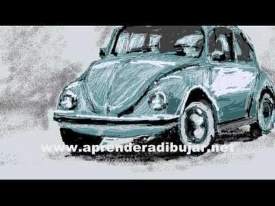 Dibujos de autos - Volkswagen escarabajo o Beetle
