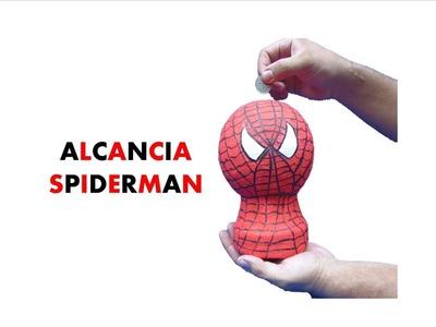 MANUALIDADES  CON RECICLAJE- (Alcancía Spiderman)