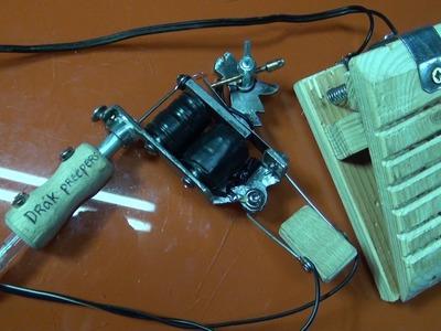 Máquina de tatuar casera con dos bobinas 1-2 partes