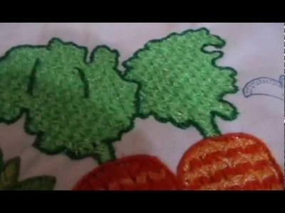 Bordado Fantasía Hojas Zanahoria