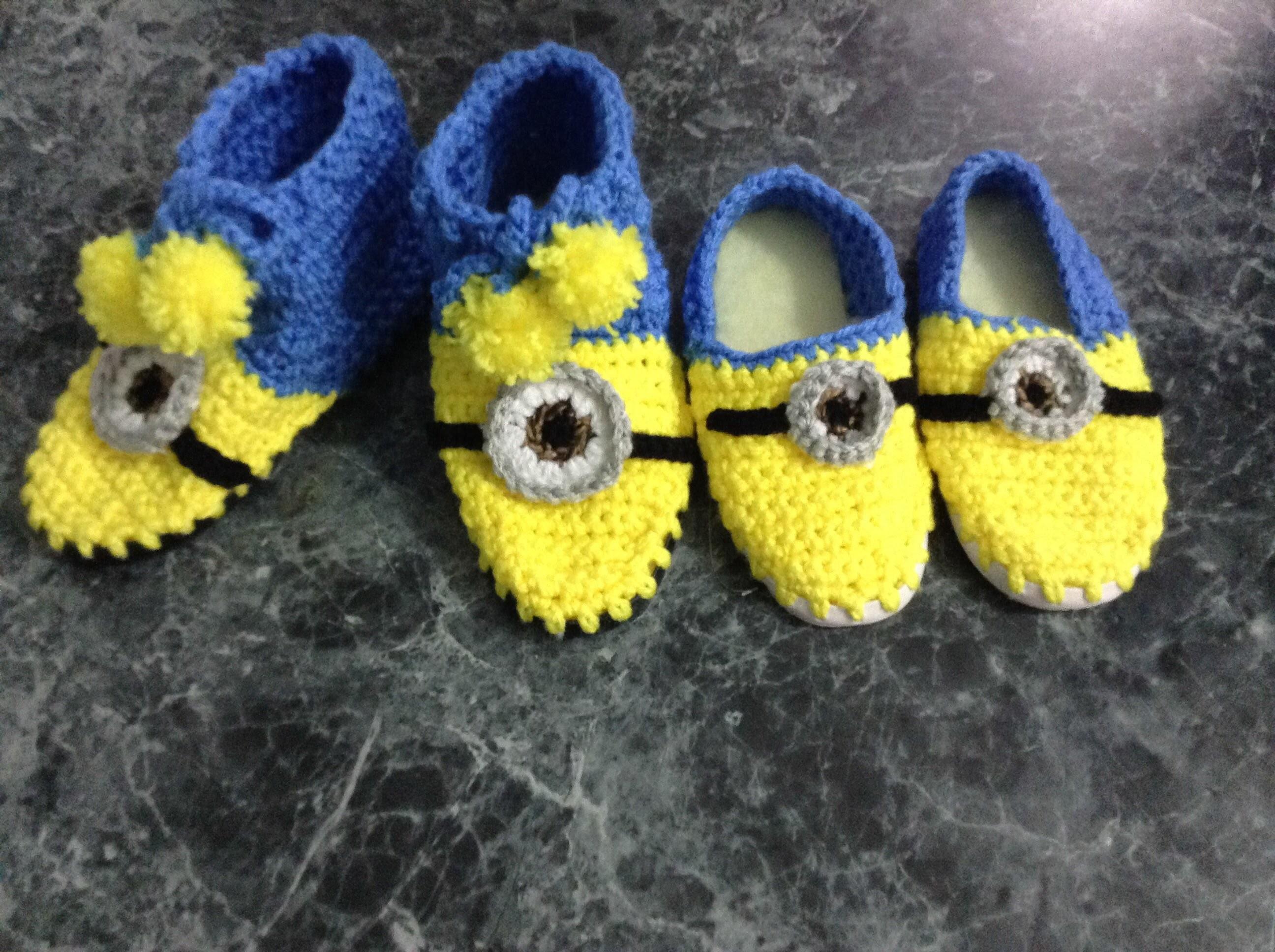 Botas de minions, crochet ganchillo.