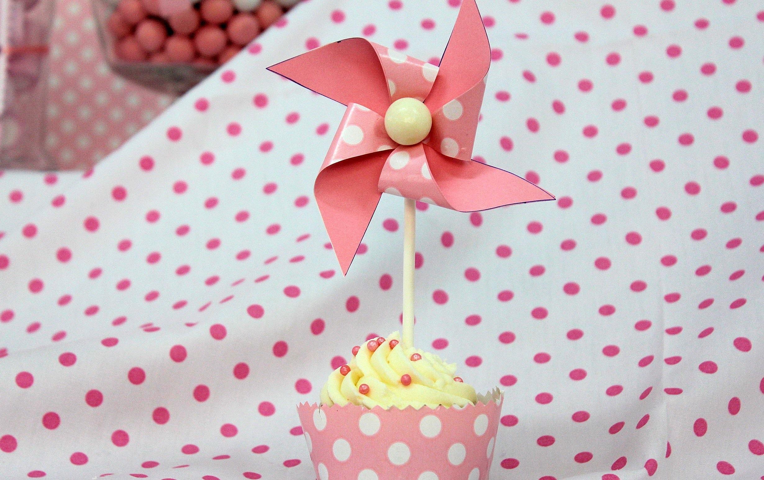 Cupcake decorado para mesa dulce. Candy buffet cupcake