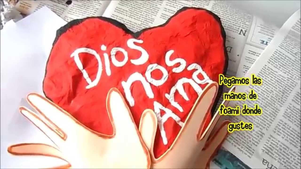 Manualidades Cristianas, Corazón estilo ART ATTACK.
