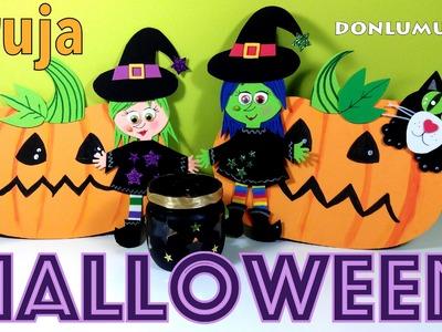 Manualidades de Halloween. Brujas portavelas. Donlumusical